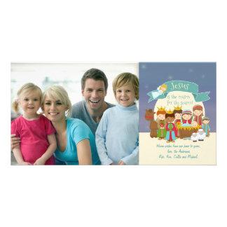 Photo Christmas Card - Nativity Scene Photo Card