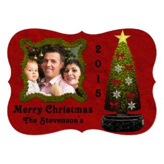 Photo Christmas Card with Tree