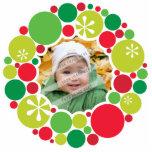 PHOTO CHRISTMAS DECORATION :: bauble wreath 2 Photo Sculpture Ornament