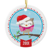 PHOTO CHRISTMAS ORNAMENT :: festive owl 3