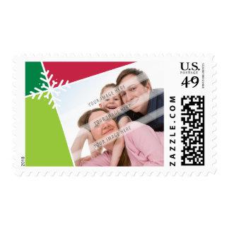 PHOTO CHRISTMAS POSTAGE :: modernista snowflake L5