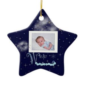 Photo Christmas star ornament