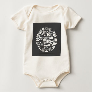 Photo circle baby bodysuit