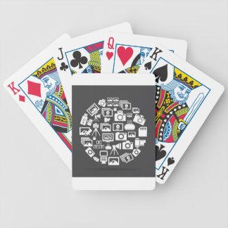 Photo circle bicycle playing cards