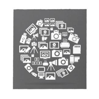 Photo circle note pad