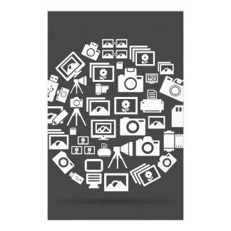 Photo circle stationery
