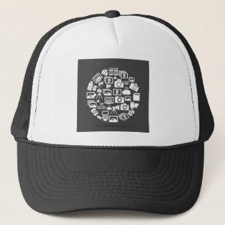 Photo circle trucker hat