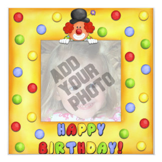 Photo Clown Birthday Card