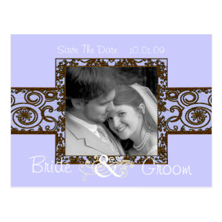 Photo Coffee and Lilac Save The Date Postcard