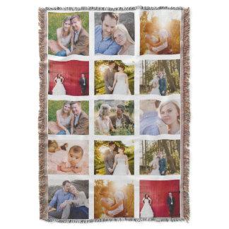 Photo Collage 15 photos White Throw