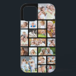 """Photo Collage 18 Photos Custom Color Black iPhone 12 Case<br><div class=""""desc"""">Carry 18 of your favorite photos on this custom background color cell phone case with a photo collage of a variety of shapes and sizes to accommodate a variety of pictures. Change the black background color by clicking on CUSTOMIZE FURTHER. PHOTO TIP: For fastest/best results, choose a photo with the...</div>"""