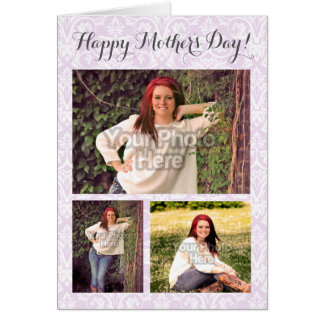 Photo Collage 3 Picture Mother's Day Personalized Card