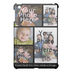 Photo Collage , 5 Custom Personalized Cover For The Ipad Mini at Zazzle