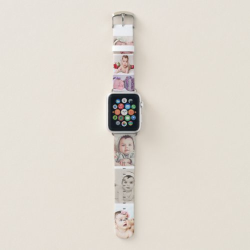 Photo Collage 6 Photo Template Personalized Apple Watch Band