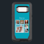 "Photo Collage Add Your Own Photos OtterBox Defender Samsung Galaxy S8 Case<br><div class=""desc"">blue photo collage (or change background color by selecting &quot;customize&quot; )  - With photographs and Text  .. the text and photo template to suit your requirements .. add your initials / monogram / text .. from Ricaso</div>"