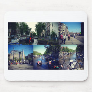 Photo collage Amsterdam 1 Mouse Pad