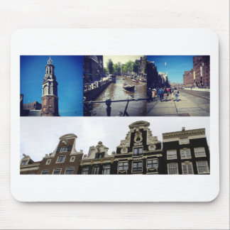 Photo collage Amsterdam 2 Mouse Pad