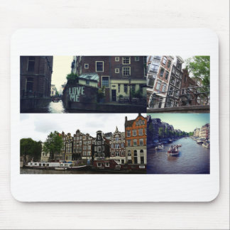 Photo collage Amsterdam 3 Mouse Pad