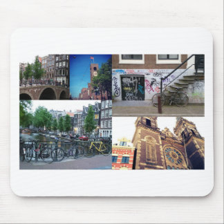 Photo collage Amsterdam 4 Mouse Pad
