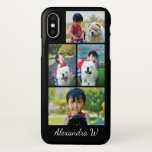 Photo Collage Black Make Your Own Instagram Custom iPhone X Case