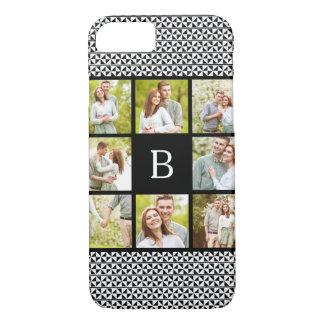 Photo Collage   Black & White Custom Monogram iPhone 7 Case