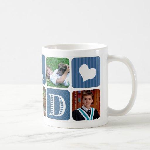 Photo Collage Blue Classic White Coffee Mug Zazzle