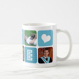 Photo Collage Blue Coffee Mug