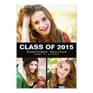 Photo Collage Class of 2015 Graduation Invitation