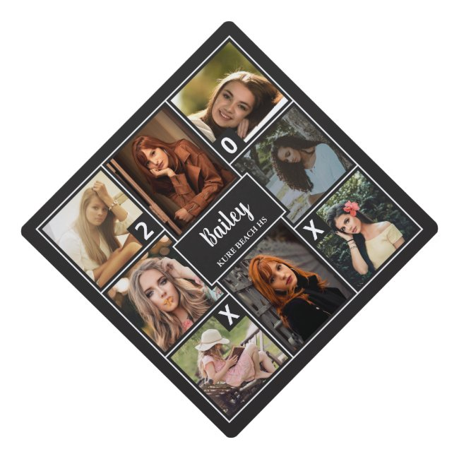 Photo Collage & Class Year Graduation Cap Topper