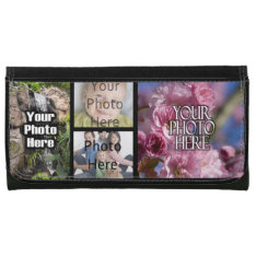 Photo Collage Custom Checkbook Wallet at Zazzle