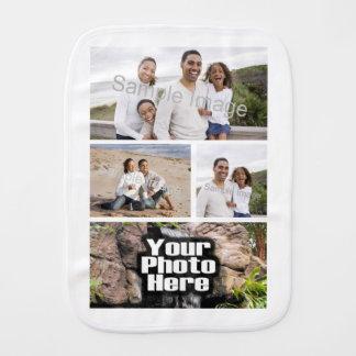 Photo Collage Custom Digital Picture Burp Cloth