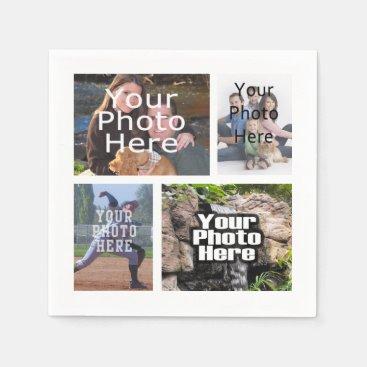 Photo Collage Custom Digital Picture Paper Napkin