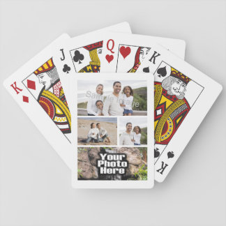 Photo Collage Custom Digital Picture Playing Cards