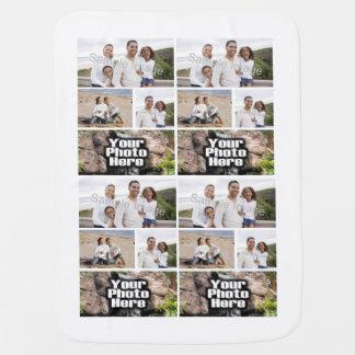Photo Collage Custom Digital Picture Stroller Blanket