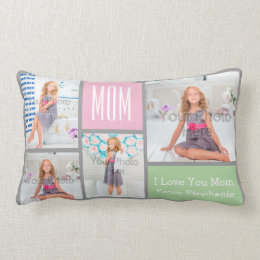 Photo Collage Custom Mother's Day Pillow