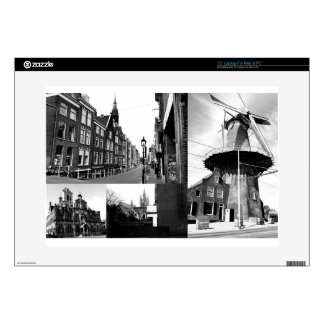 Photo collage Delft 1 in black and white Laptop Skins