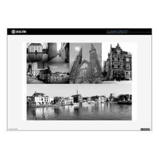 Photo collage Delft 4 in black and white Skin For Laptop