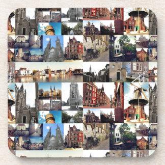 Photo collage Delft 6 Coaster