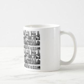 Photo collage Delft 6 in black and white Coffee Mug