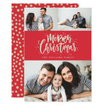Photo Collage Family Holiday Photo Card