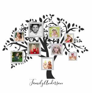 Family Tree Photo Statuettes Cutouts Sculptures Zazzle
