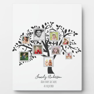 Photo Collage Family Tree Template Personalized Plaque