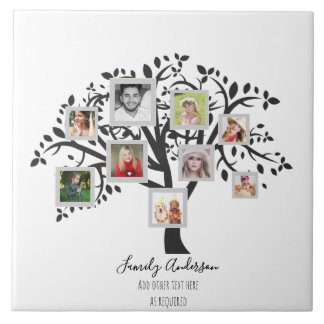 Photo Collage Family Tree Template Personalized Tile