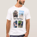 Photo Collage Father's Day Gift Best Dad Custom T-Shirt