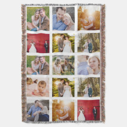 Photo Collage Gift 15 photo blanket