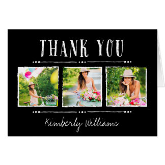 Photo Collage Graduation Thank You Card