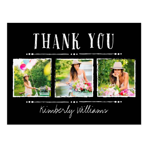 Photo Collage Graduation Thank You Postcards