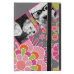 Photo Collage Hot Pink and Orange Flowers Cover For iPad Mini