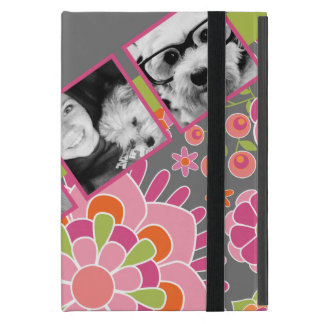 Photo Collage Hot Pink and Orange Flowers iPad Mini Case