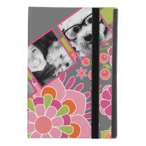 Photo Collage Hot Pink and Orange Flowers iPad Mini Case